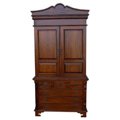 Mahogany Linen Press Cabinet or Wardrobe